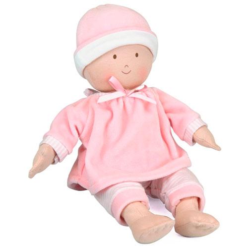 Muñeco de trapo bebé rosa