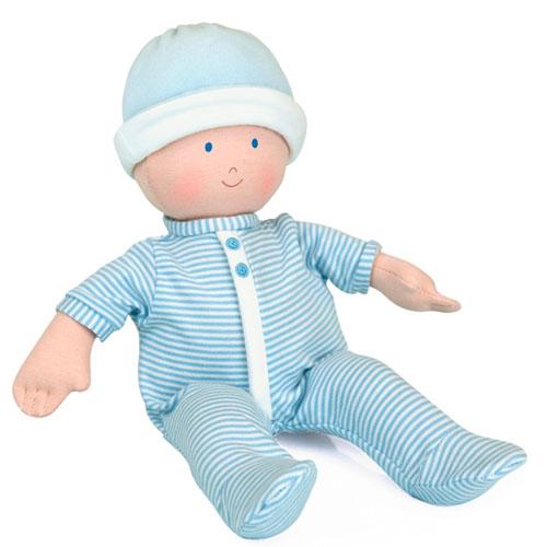 Muñeco de trapo bebé azul