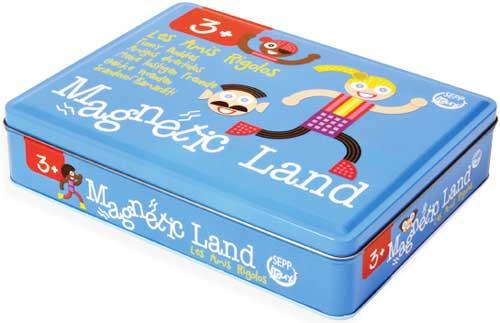Juego magnético Funny Buddies detalle de la caja