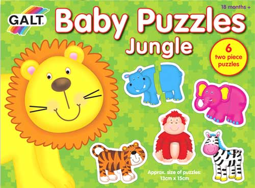 Puzzles Baby Jungla 2 piezas