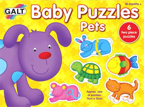 Puzzles Baby Mascotas 2 piezas