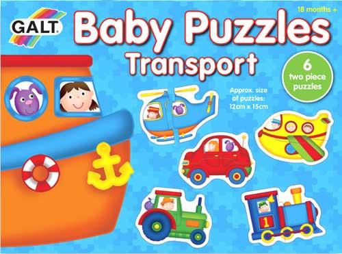 Puzzles Baby Transportes 2 piezas