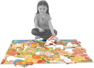 puzzle de suelo La granja