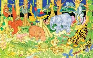 Puzzle de suelo La selva