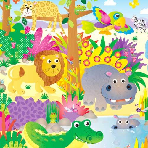Puzzle de suelo La selva detalle 2