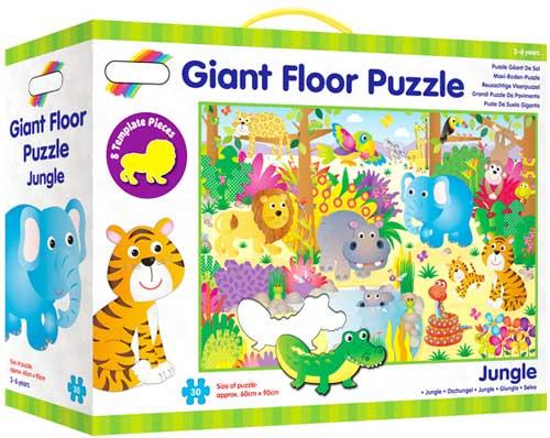 Puzzle de suelo La selva detalle de la caja