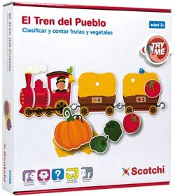 Puzzle Velcro El tren del pueblo
