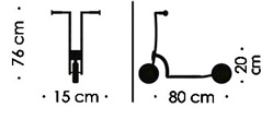 Patinete infantil 3-10 años con 2 ruedas detalle 1