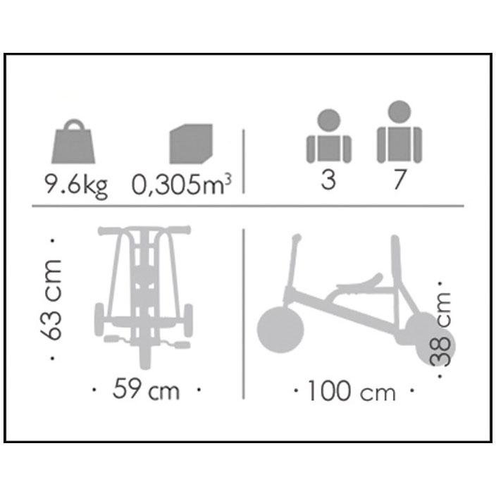 Triciclo gigante 3-7 años detalle 4