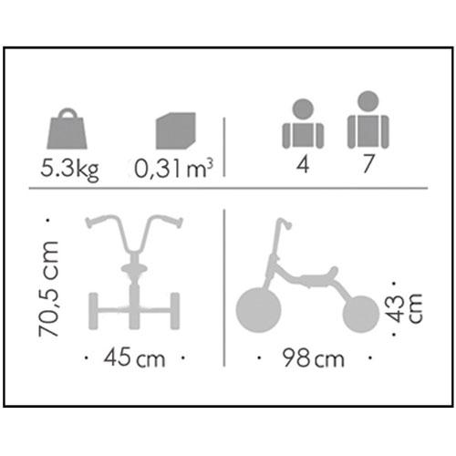 Bici metal sin ruedas 4-7 años detalle 1