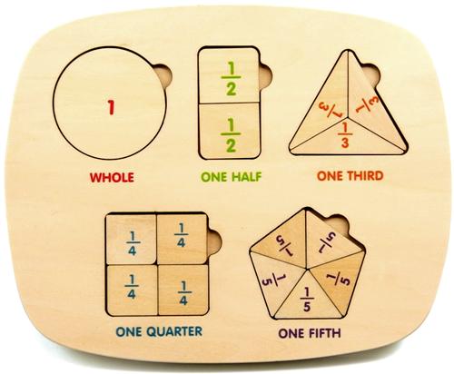Clasificador de fracciones madera detalle 1
