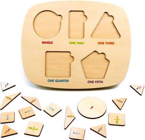 Clasificador de fracciones madera detalle 3