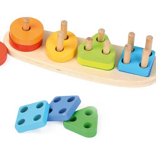 Encajable formas y números madera
