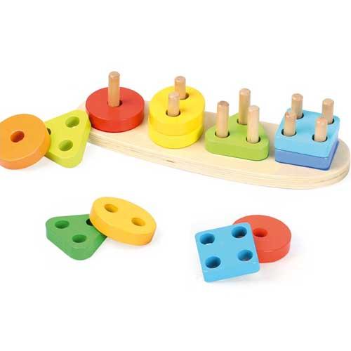 Encajable formas y números madera detalle 1