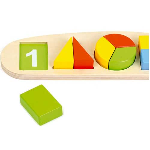 Aprender formas geométricas 11 pz madera detalle 1