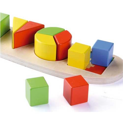 Aprender formas geométricas 11 pz madera detalle 2