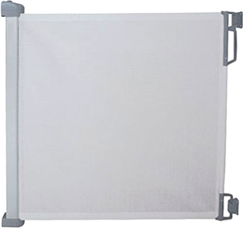 Puerta extensible de seguridad gris claro