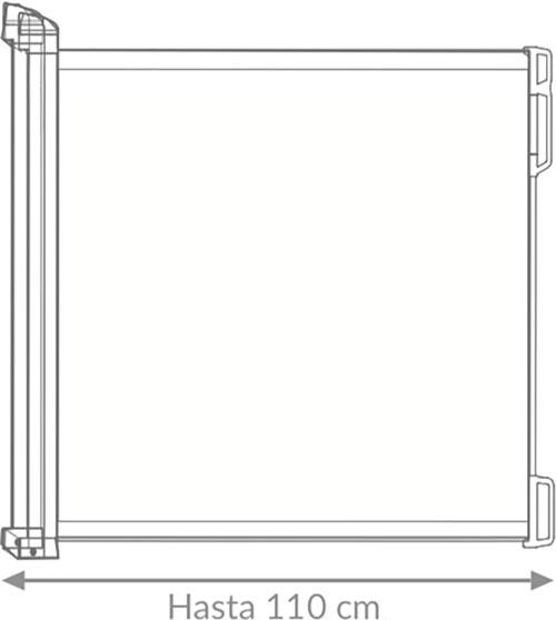 Puerta extensible de seguridad gris claro detalle 3