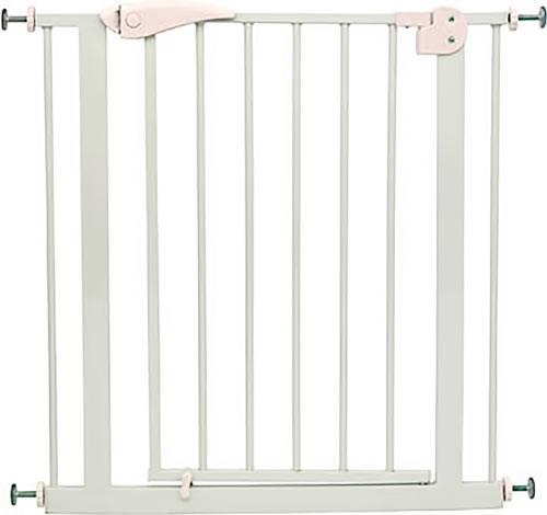 Puerta de seguridad blanca con extensión