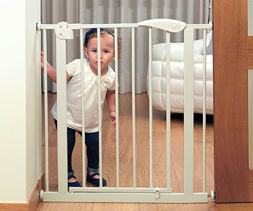 Puerta de seguridad blanca con extensión detalle 1