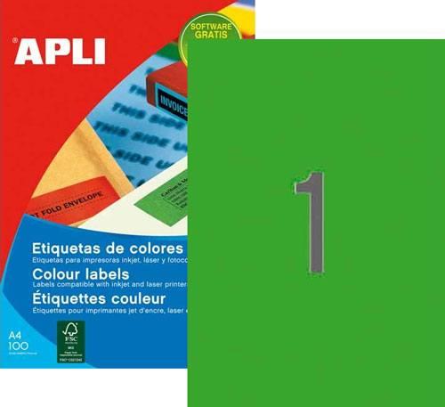 Etiquetas A4 210×297 mm verde 20 h