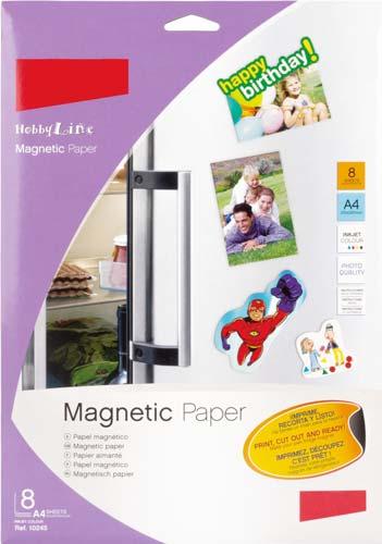 Papel magnético A4 impresora o dibujo 8 ud