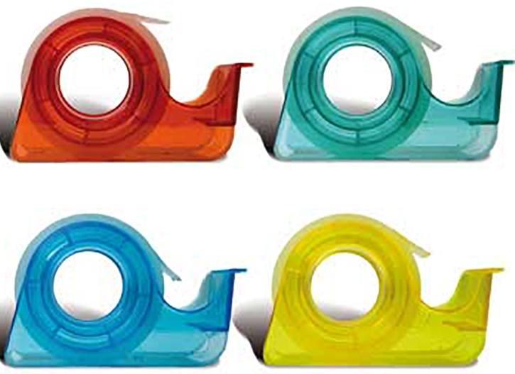 Portarrollos con cinta adhesiva 15 mm x 10 m