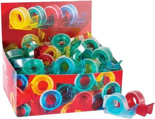 Portarrollos con cinta adhesiva 15 mm x 10 m detalle 1