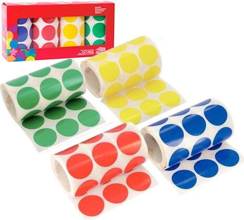 Gomets XXL 33 cm redondos 4 rollos colores