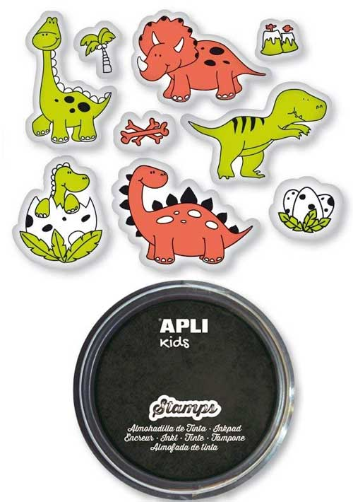 Tampones dinosaurios 9 ud
