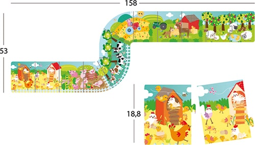 Puzzle XXL Granja detalle 1