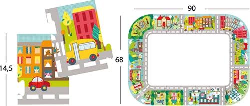 Puzzle XXL Ciudad detalle 1