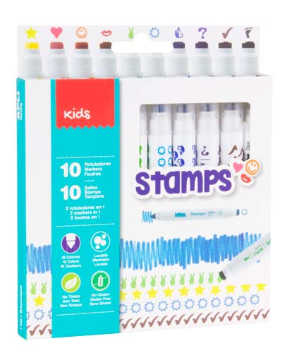 Rotuladores Colors & Stamp 10 ud