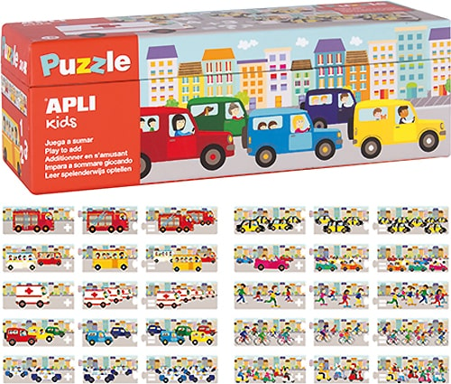 Puzzle Sumas Transportes