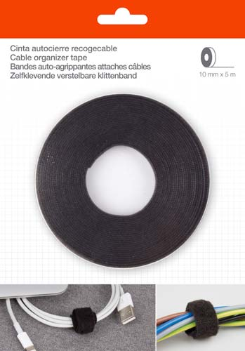 Velcro recogecables 10 mm x 5 m
