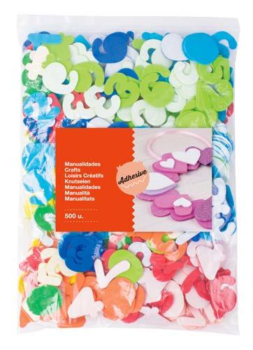 Formas de goma eva adhesiva Números 500 ud detalle 1