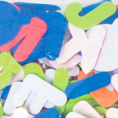Formas goma eva adhesiva Letras 500 ud