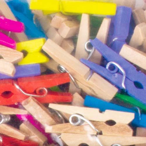 Mini pinzas de madera Colores surtidos 25 x 3 mm 450 ud detalle 1
