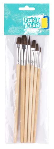 Pinceles madera surtidos 6 ud