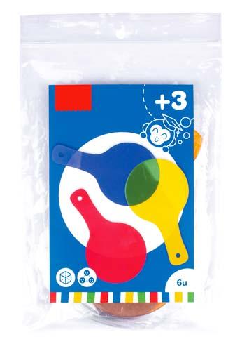 Paletas tranlúcidas de colores 6 ud detalle 1