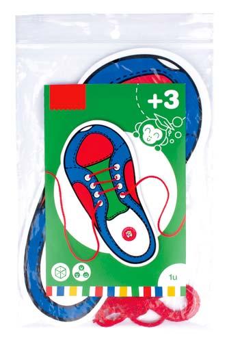 Ata zapatos cordón Rojo 1 ud detalle 1