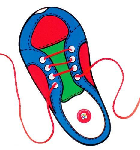 Ata zapatos cordón rojo 1 ud