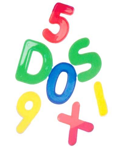 Letras y números transparentes 36 ud