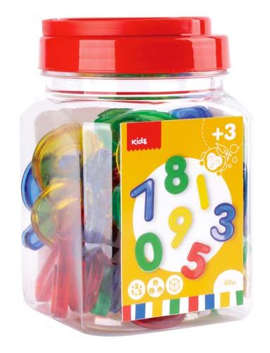 Números transparentes 40 piezas detalle 4
