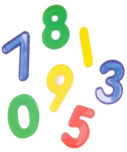 Números transparentes 40 piezas