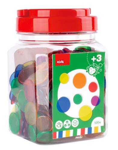 Piezas para contar Colores surtidos 500 ud detalle 1