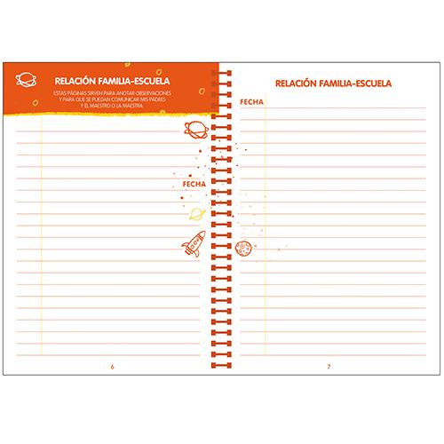 Agenda escolar COSMOS espiral detalle 3