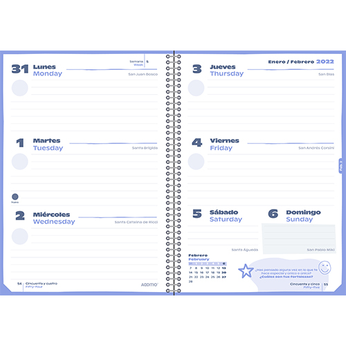 Agenda escolar PLANET detalle 4