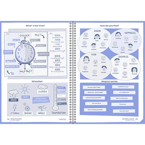 Mini Agenda escolar PLANET detalle 6