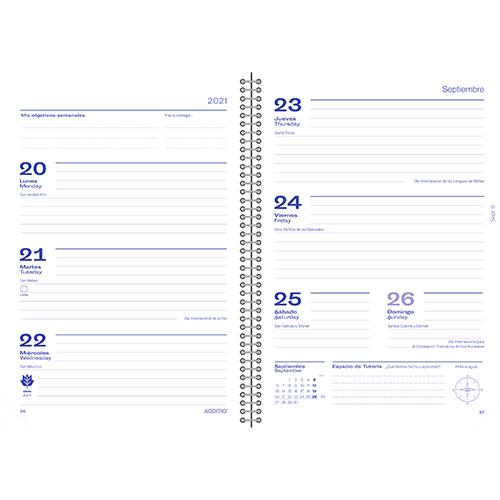 Mini Agenda escolar MERIDIAN detalle 6